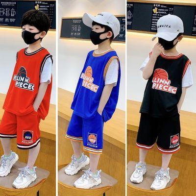 男童夏装儿童运动套装2020夏天中大童洋气背心运动童装篮球服衣服