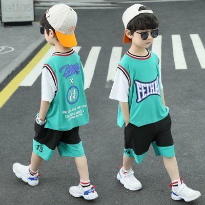 男童运动套装2020新款儿童洋气背心篮球服小朋友夏季休闲假两件潮