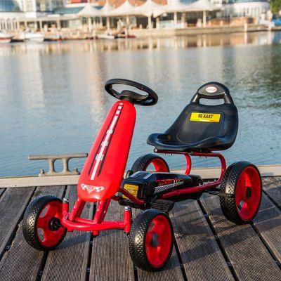 儿童卡丁车四轮脚踏自行车男女宝宝小孩可坐益智健身玩具童车