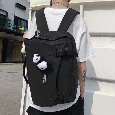 双肩包男大容量多功能休闲旅行背包潮牌时尚潮流学生高中生书包