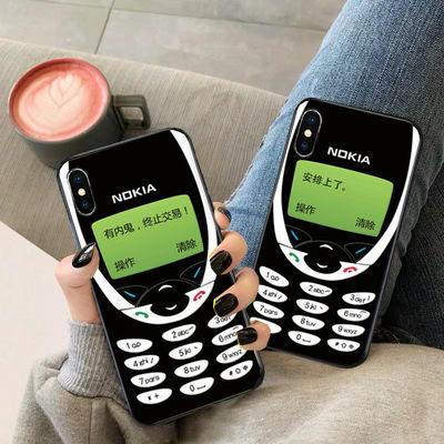 苹果11 xsmax手机壳硅胶iphonexr诺基亚苹果5s6s78plus复古装B