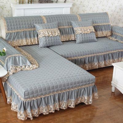 亚麻四季通用布艺沙发垫全盖欧式坐垫全包简约现代沙发罩巾靠背巾