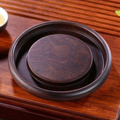 黑檀实木茶壶垫壶承紫砂养壶垫隔热茶座茶壶架壶托功夫茶具配件