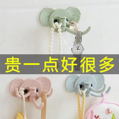 粘胶创意可爱无痕挂勾免钉门后挂钩厨房浴室大象壁挂粘钩多用强力