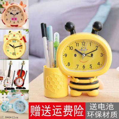 学生闹钟创意卡通小时钟儿童卧室床头钟时尚钟表台钟摆件生日礼物