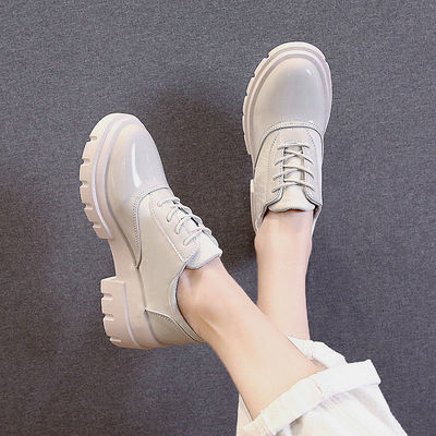 秋季新款jk小皮鞋女英伦学院风百搭厚底粗跟复古女学生单鞋高跟鞋