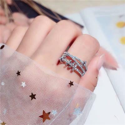 迪丽热巴同款转运灵动戒指女时尚个性潮日系轻奢蹦迪食指指环