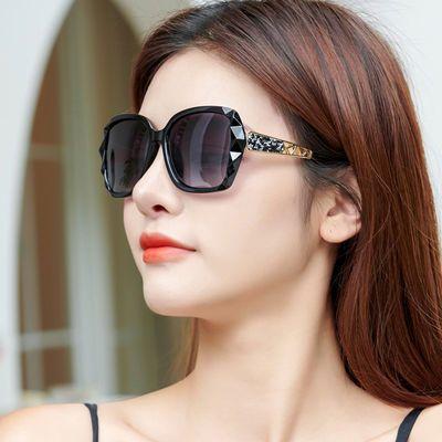 女士偏光太阳镜2020新款韩版明星潮眼镜圆脸大框防紫外线网红墨镜
