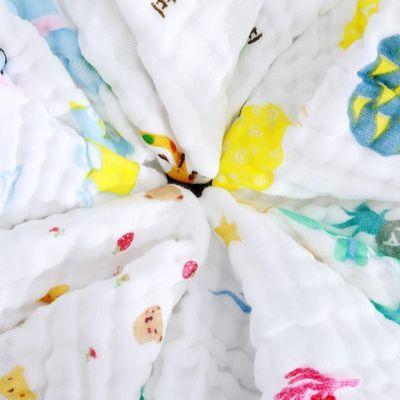 1/3/5 条装纯棉口水巾宝宝小方巾儿童洗脸巾婴儿喂奶巾手帕擦手巾