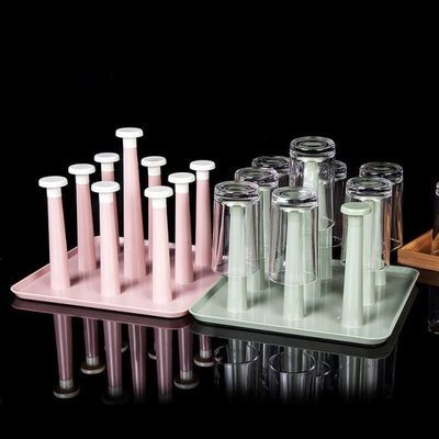 环保晾杯架便携式室内优雅简单玻璃杯沥水小落饭店多层水杯挂架a