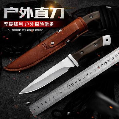 赠送皮套户外刀具多功能瑞士军刀小直刀高硬度迷你水果刀户外小刀