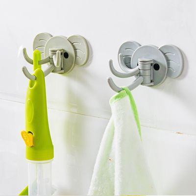 可爱多功能壁挂粘钩厨房浴室门后免钉挂钩贴多用强力粘胶无痕粘钩