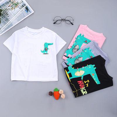 2020夏季新款 儿童t恤中小男女童短袖上衣莫代尔圆领半袖宝宝韩版