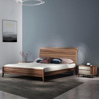 乌金木双人床全实木床大床轻奢现代简约1.5米1.8米主卧室具婚床
