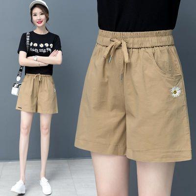 短裤女夏高腰阔腿裤女显瘦2020新款裤子女宽松显瘦夏季薄款休闲裤