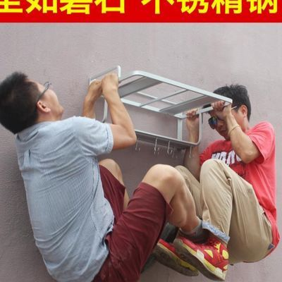 太空铝合金壁挂式微波炉置物架烤箱支架家用放厨房收纳架子托挂架