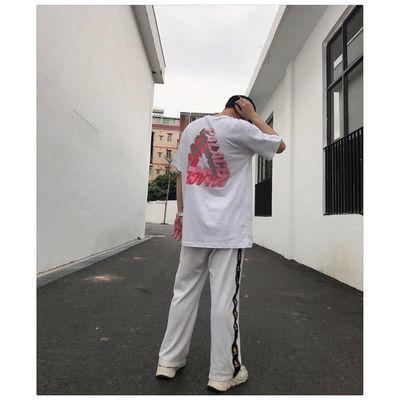 palace短袖基础款三角彩色立体印花短袖T恤陈冠希同款男女潮