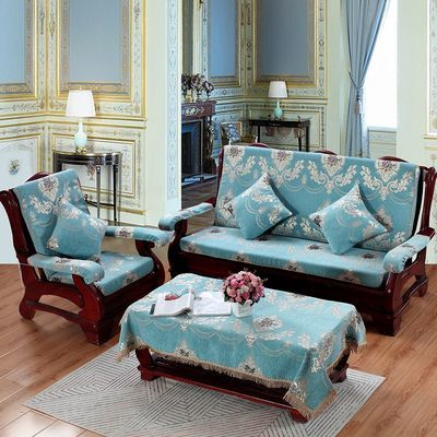 实木沙发垫带靠背加厚防滑木头沙发坐垫四季通用尊贵家纺