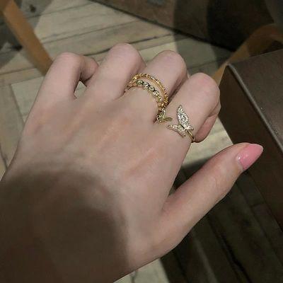 甜酸蝴蝶戒指女时尚个性高级感日系轻奢指环食指戒手饰品
