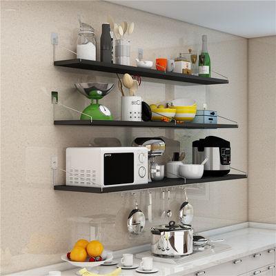 厨房置物架免打孔放置调味料微波炉架子壁挂式墙上架烤箱收纳挂架