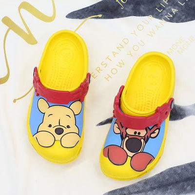 跳跳虎维尼熊亲子鞋洞洞鞋儿童男童女童凉鞋女宝宝拖鞋防滑鞋子