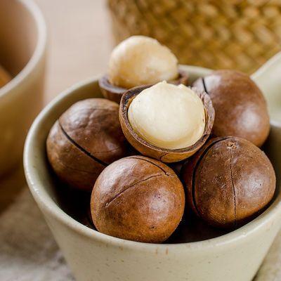 热卖新货奶油夏威夷果袋装500g/250g/散装2斤送开口器零食坚果批