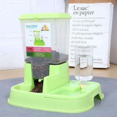 新款猫咪用品自动喂食器猫碗双碗自动饮水宠物自动喂食器狗碗狗狗