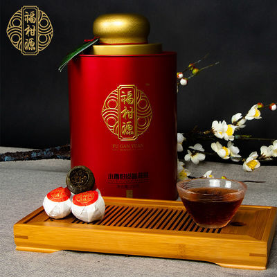 福柑源江门新会小青柑普洱茶熟普柑普茶陈皮2018年宝玉250g礼盒装