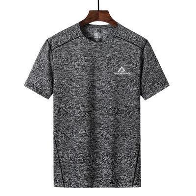 新款户外运动冰丝短袖T恤男弹力速干吸汗透气夏季跑步速干衣宽松