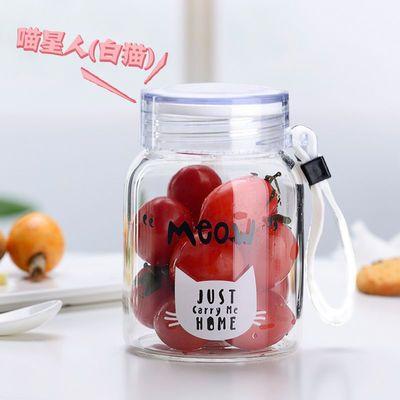 【破损包赔】耐热玻璃杯网红款杯子潮流水杯女学生韩版猫咪猫爪杯