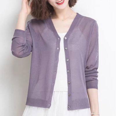 针织衫女开衫夏季新款冰丝外搭短款韩版披肩外套薄款空调衫防晒衣