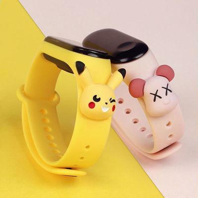 【自定义图片】韩版学生公仔智能手表男女运动计步器闹钟充电手环