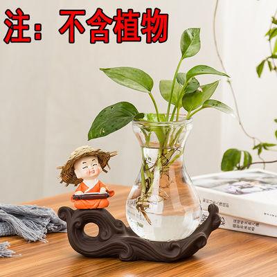 迷你绿萝水培花瓶玻璃桌面创意家用装饰品客厅摆件水养小花盆陶瓷