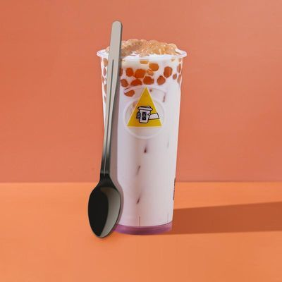 一次性塑料长柄勺书亦同款烧仙草勺子独立包装长勺加厚水果搅拌勺
