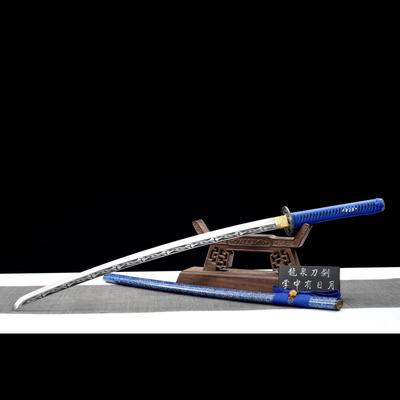 龙泉宝剑唐横钢长中款宝剑日本武士刃收藏送礼装饰武术防身未开刃