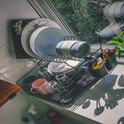 碗碟架沥水架创意双层沥水篮晾放碗筷碗盘置物架厨房收纳盒储物架