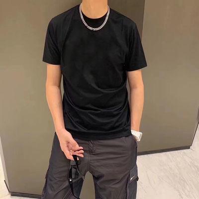 BOY短袖男2020新品潮牌时尚个性老鹰烫金纯色半袖T恤情侣款上衣男