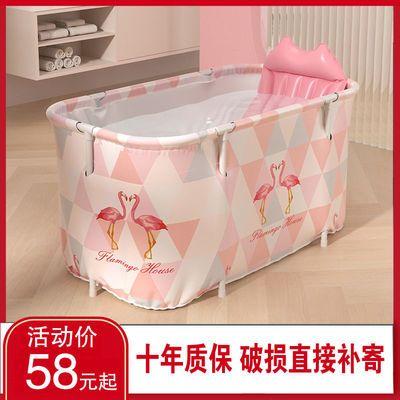 洗澡盆成人折叠家用泡澡桶大号儿童洗澡桶带盖浴桶沐浴桶洗澡神器