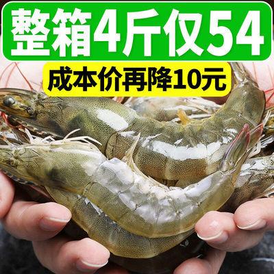 【顺丰冷链】海捕大虾整箱基围虾超大冻虾对虾白虾野生青虾海鲜