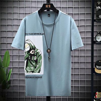 新款t恤男潮流韩版圆领短袖男士休闲半袖宽松百搭Boy短袖T恤男装