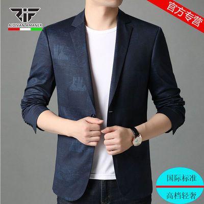 乔奇阿玛尼西服外套男新款休闲百搭西单薄款韩版潮流上衣大码男装
