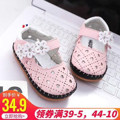 夏季镂空0-1岁女宝宝凉鞋6-18个月软底防滑婴儿学步鞋包头公主鞋2
