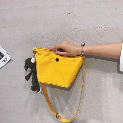 帆布小包包男女2020新款潮韩版百搭单肩包时尚休闲斜挎包运动小包