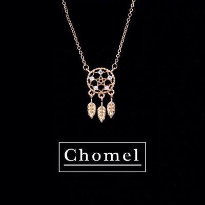 新加坡Chomel捕梦网项链女网红闪钻小众设计流苏吊坠高级感锁骨链