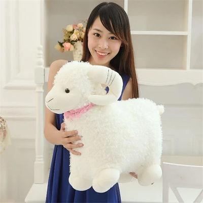小羊毛绒玩具可爱小绵羊公仔大号羊布娃娃玩偶少女心抱枕生日礼物