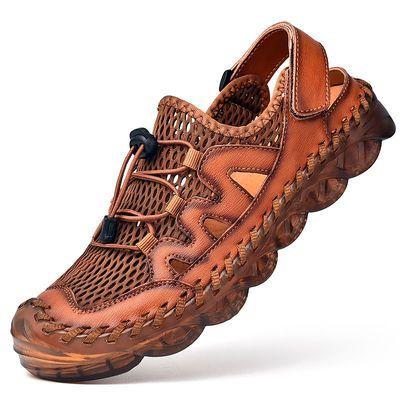 户外夏季轻便透气网鞋男休闲运动鞋网面凉鞋防滑徒步大码驾车男鞋