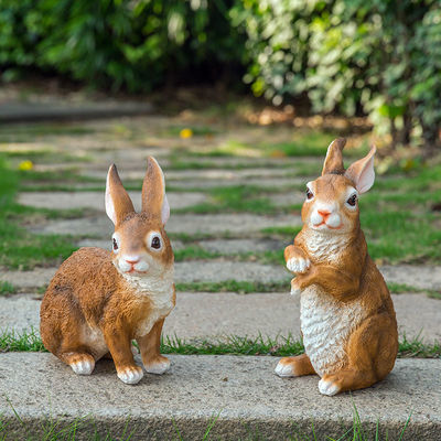 花园庭院装饰幼儿园户外草地 园林景观雕塑树脂动物仿真兔子摆件