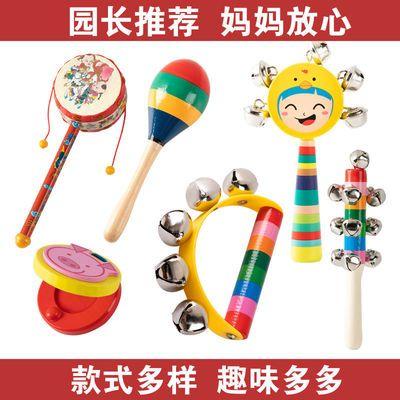 新生婴幼儿0-6-12月摇铃棒铃益智早教手握铃宝宝抓握敲打玩具训练