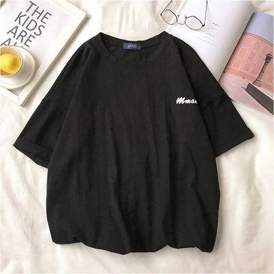 夏季日系嘻哈潮牌宽松短袖男ins潮流印花T恤青少年圆领半袖tee