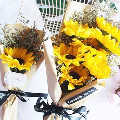 向日葵香皂花束小清新家居装饰拍摄道具毕业花束干花礼品节日礼物